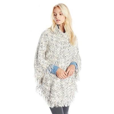 ケンジー レディース セーター(プルオーバー型) Kensie Women's Novelty Fuzzy Yarn Poncho Sweater