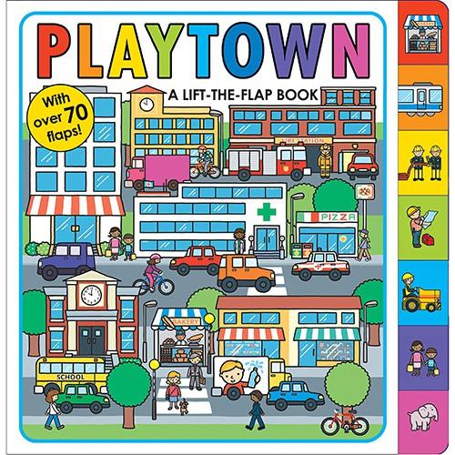 Playtown: A Lift-the-Flap Book 英文翻翻書 英文繪本【歌德書店】