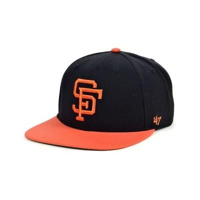 47ブランド 帽子 アクセサリー メンズ San Francisco Giants Coop Shot Snapback Cap Black/Orange