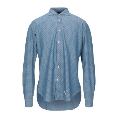 TINTORIA MATTEI 954 シャツ アジュールブルー 38 コットン 100% シャツ