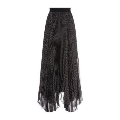 アリス アンド オリビア レディース スカート ボトムス Katz Sunburst Pleated Maxi Skirt MIN DOT BK