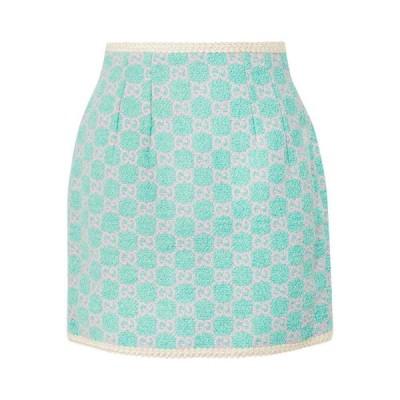 グッチ Gucci レディース ミニスカート スカート cotton-blend jacquard mini skirt