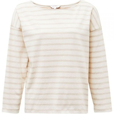 グレート プレインス Great Plains レディース トップス Leonie Stripe Long Sleeve Top Milk/Amaretto