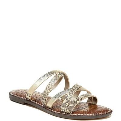 サムエデルマン レディース サンダル シューズ Giana Metallic and Snake Print Leather Strappy Sandals