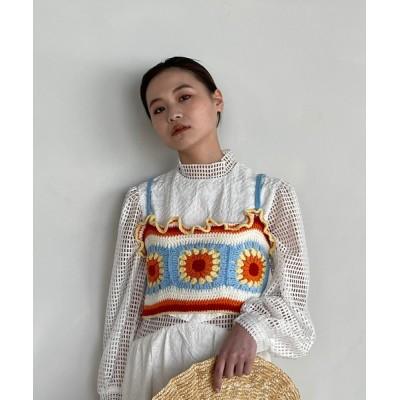 chuclla / 【SANSeLF】crochet knit frill bistier sanw73 WOMEN トップス > その他トップス