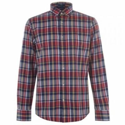ガント Gant メンズ シャツ トップス Long Sleeve Plaid Regular Shirt Blue