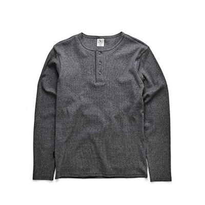(アビレックス) AVIREX 長袖 ヘンリーネック Tシャツ L/チャコール