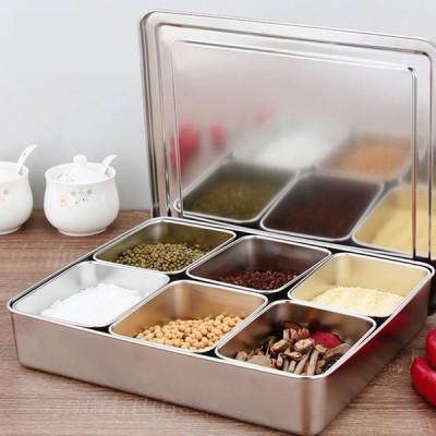 厨房調味料入れ 調味料容器 ストッカー 収納ケース キッチン収納 ステンレス セット シンプル 保存容器 塩 胡椒 香辛料 砂糖