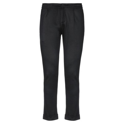 パオロ ペコラ PAOLO PECORA パンツ ブラック 52 コットン 40% / バージンウール 28% / アクリル 28% / ナイロン