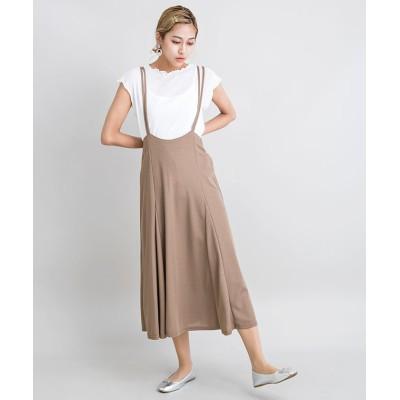 【ミリオンカラッツ】 Tシャツセットジャンパースカート レディース ブラウン F Million Carats