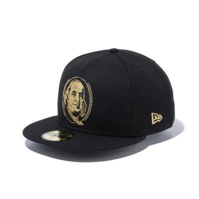 ニューエラ キャップ 帽子 メンズ レディース ベンジャミン フランクリン 59FIFTY 黒 ブラック NEW ERA ベースボールキャップ シール フラットバイザー 1271157