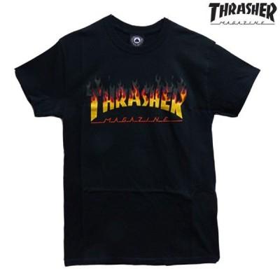 th-ts001 THRASHER Tシャツ   半袖Tシャツ BBQ バーベキュー 炎 ブラック th-ts002