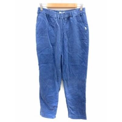 【中古】ネネット Ne-net パンツ コーデュロイ テーパード 2 青 ブルー /YI メンズ