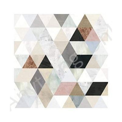 新品 Self-Adhesive Wallpaper - Watercolor Mosaic Triangles I Square Format 288x288 cm並行輸入品