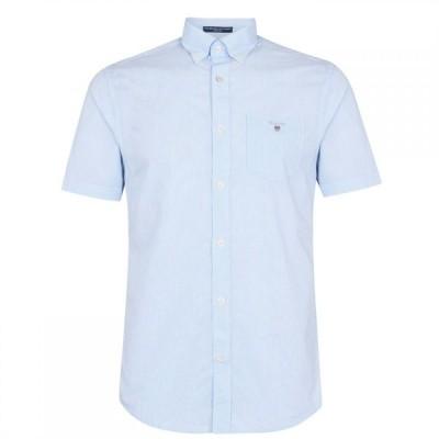 ガント Gant メンズ シャツ トップス Broadcloth Stripe Shirt Pale Blue