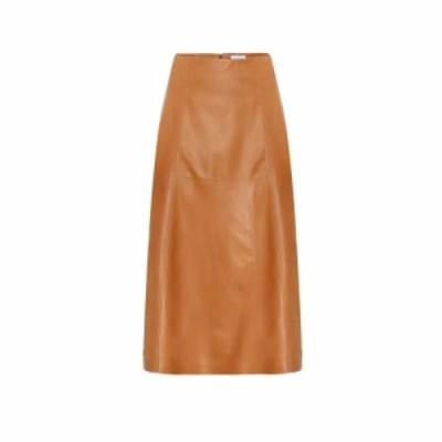 サルヴァトーレ フェラガモ Salvatore Ferragamo レディース スカート High-rise leather skirt Medium Vicuna