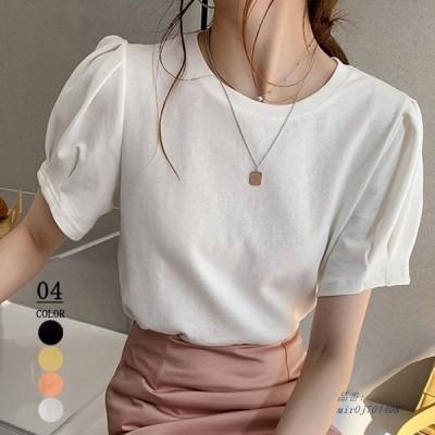 Tシャツ カットソー 韓国ファッション 半袖 レディーストップス カジュアル