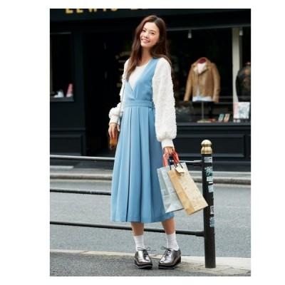 ジャンパー スカート 大きいサイズ レディース タック プリーツ  L〜10L ニッセン nissen