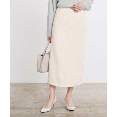 【ユアーズ】 ツイードタイトスカート レディース ホワイト S ur's
