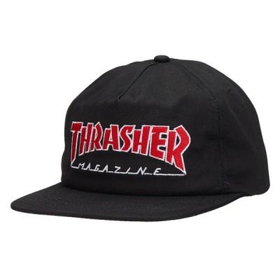 スラッシャー THRASHER/OUTLINED SNAPBACK ( BLACK ) キャップ