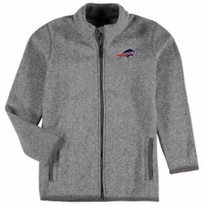 Outerstuff アウタースタッフ スポーツ用品  Buffalo Bills Youth Heathered Gray Sweater Knit Full-Zip Jacket