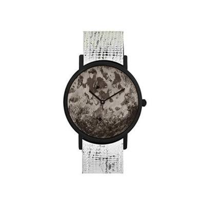 South Lane ステンレススチール スイス製クオーツ腕時計 レザーカーフスキンストラップ ブラック 20 (モデル:SS20-dr1-4805)