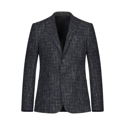 ZZEGNA テーラードジャケット ダークブルー 50 コットン 86% / リネン 9% / ウール 5% テーラードジャケット