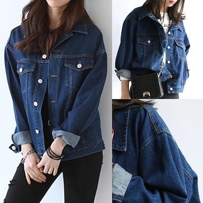 韓国ファッション デニムジャケット レディース デニムジャケットジーンズ アウタージャケットコート デニムジャケット デニム ジャケット ペアルックカップル ジャケット 薄手 長袖