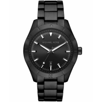 マイケルコース レディース 腕時計 アクセサリー Layton Three - Hand Black IP Watch Black