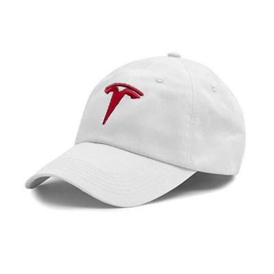 Tesla ロゴ スポーツ 野球 調節可能 キャップ ホワイト JD PARTS