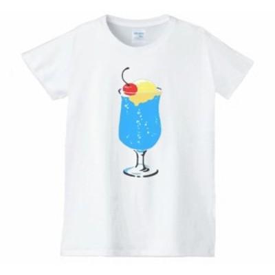 クリームソーダ レディース 食べ物 野菜 スイーツ Tシャツ 白