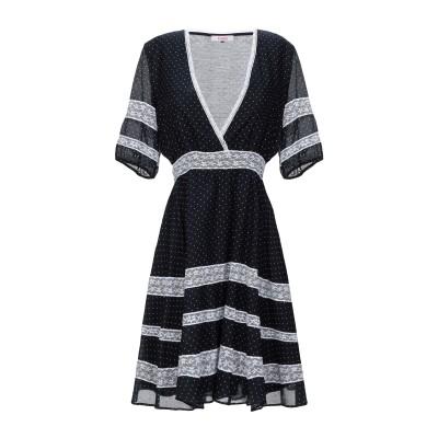 ブルマリン BLUMARINE ミニワンピース&ドレス ダークブルー 44 コットン 70% / シルク 30% ミニワンピース&ドレス