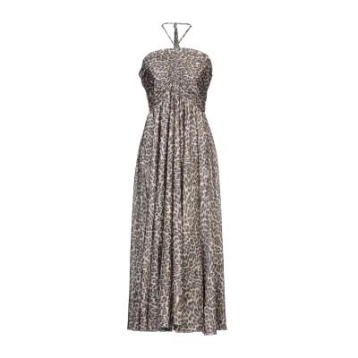 ZIMMERMANN 7分丈ワンピース・ドレス カーキ 0 シルク 100% 7分丈ワンピース・ドレス