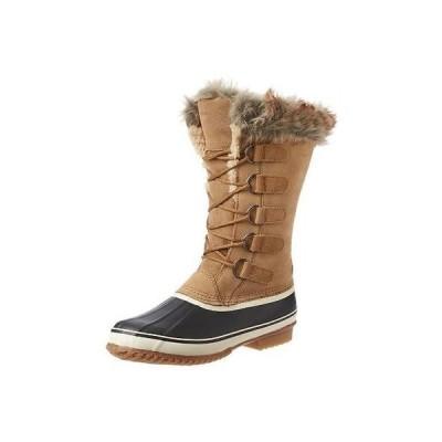 ノースサイド ブーツ 靴 Northside 4183 レディース Kathmandu Beige スエード スノー Faux Fur Pac ブーツ シューズ 8 BHFO