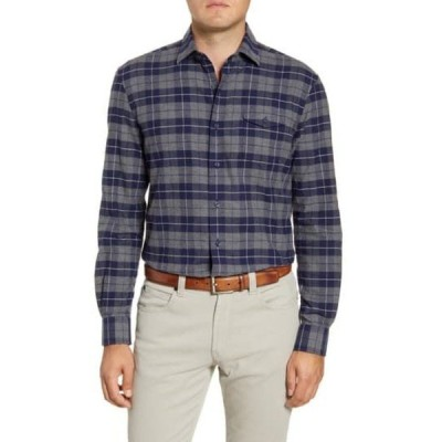 ジョニーオー メンズ シャツ トップス Wake Classic Fit Plaid Flannel Button-Up Shirt WAKE