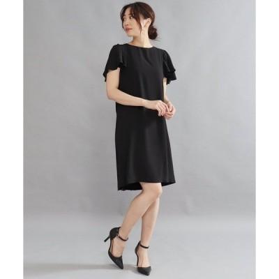 ドレス AULI 袖フリルワンピース【OC】