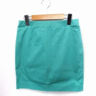 【中古】イエナ スローブ IENA SLOBE スカート タイト ミニ 無地 シンプル 綿 グリーン 緑 /FT2 レディース