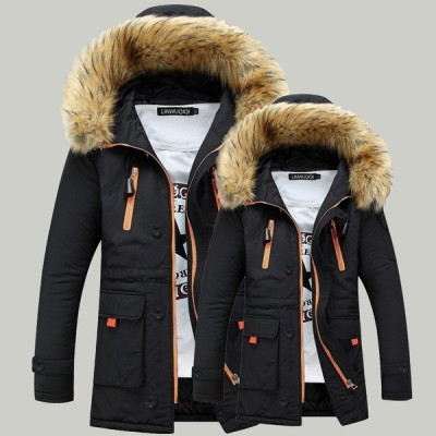 3色 メンズ 中綿ジャケット 中綿コート モッズコート 冬物   モッズコート     防寒  厚手  裏起毛   フェイクファー  大きいサイズ