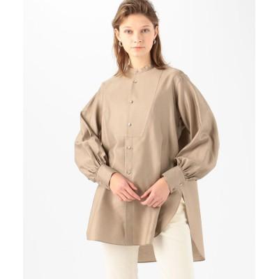 (MACPHEE/マカフィー)コットンモールスキン ボザムチュニックシャツ/レディース 45キャメル