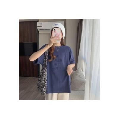ゾエ ジェンコ Zoe Jenko フロントロゴ エンボス加工 半袖Tシャツ 8071 (NVY)