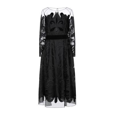MARIA GRAZIA SEVERI 7分丈ワンピース・ドレス ブラック 38 ポリエステル 100% 7分丈ワンピース・ドレス