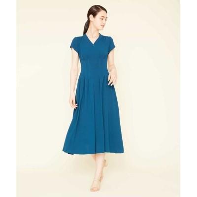 Sybilla/シビラ タッキングデザインドレス ネイビーグリーン 40