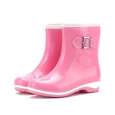 [フェニックス ショップ] 可愛い レインブーツ ロング丈 レディース 長靴 歩きやすい おしゃれ 梅雨対策 滑り止め 大きいサイズ (23.0cm