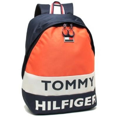 【P10% 6/13 0:00~23:59】トミーヒルフィガー リュック バックパック メンズ レディース TOMMY HILFIGER TC980AE9 NAVY WHT ORANGE マル