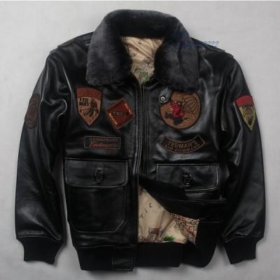 フライ B3 毛皮 中 襟本革ジャケットに冬 レザーコート男性ため男性 メンズ服 から 本革コート グループ上 フライトジャケット