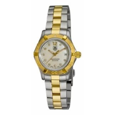 Tag Heuerレディースwaf1425bb0825Aquaracer 28Mmツートンダイヤモンドダイヤル腕時計