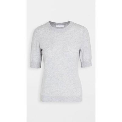 ホワイトウォーレン White + Warren レディース 長袖Tシャツ トップス Cashmere Elbow Sleeve Crew Neck Tee Misty Grey Heather