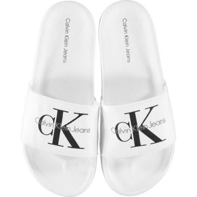 カルバンクライン Calvin Klein Jeans メンズ サンダル シャワーサンダル シューズ・靴 Logo Sliders White