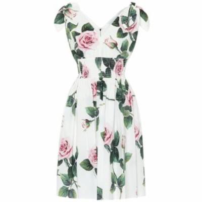 ドルチェandガッバーナ Dolce and Gabbana レディース ワンピース ワンピース・ドレス Floral cotton dress Rose Rosa Fdo Panna