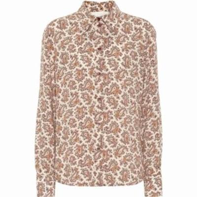 クロエ Chloe レディース ブラウス・シャツ トップス Paisley Silk Crepe De Chine Shirt Powdery Pink
